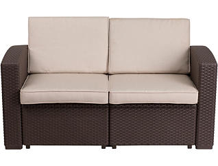 Claire  Chocolate Brown Loveseat, , large