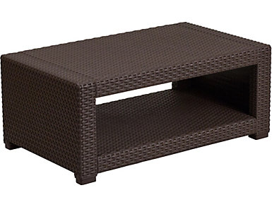 Claire Chocolate Brown Coffee Table, , large