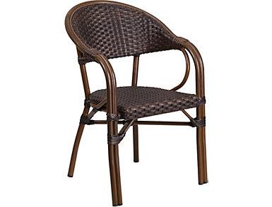 Edina Rattan Chair, Dark Brown, , large