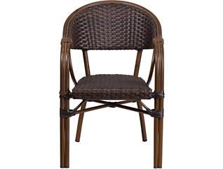 Edina Rattan Dark Brown Chair, , large