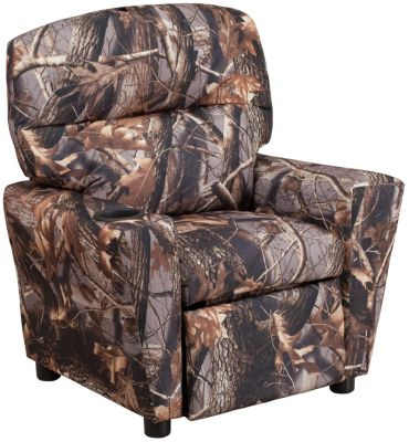 Durable Upholstery Kids Recliner, Camo, swatch