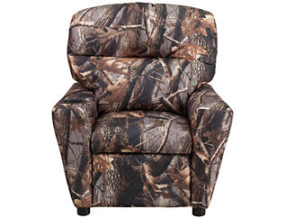 Flash Furniture Camo Durable Upholstery Kids Recliner, Camo, large