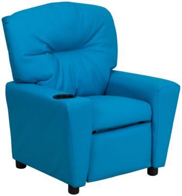 Flash Furniture Durable Vinyl Kids Recliner, Blue, swatch