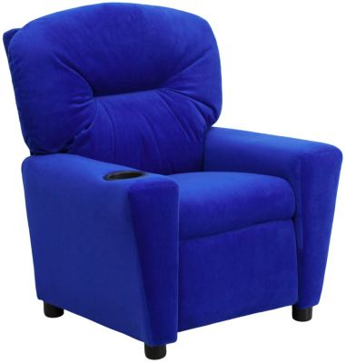 Flash Furniture Durable Upholstery Kids Recliner, Blue, Blue, swatch