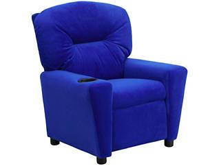 Flash Furniture Durable Upholstery Kids Recliner, Blue, Blue, large