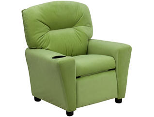 Flash Furniture Durable Upholstery Kids Recliner, Green, , large