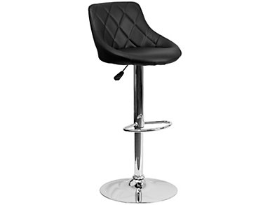 Gas Lift Black Barstool, , large