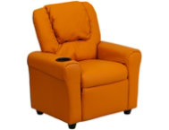shop Kids-Orange-Vinyl-Recliner