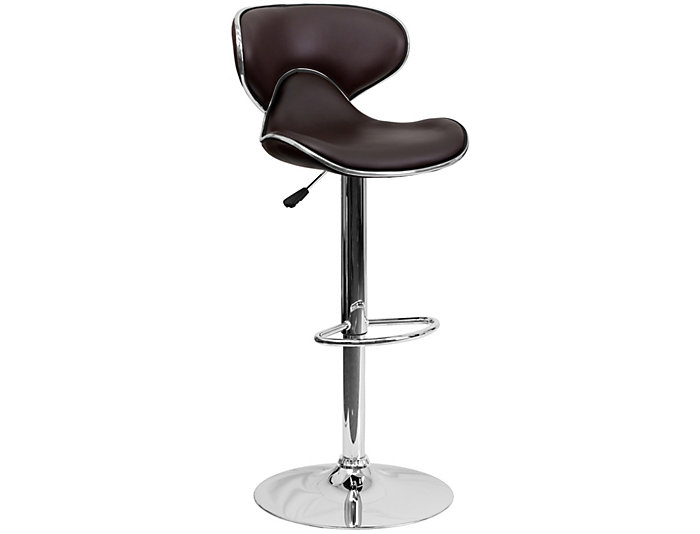 Gas Lift Brown Barstool, , large