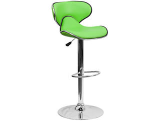 Gas Lift Green Barstool, , large