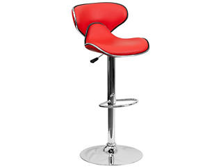 Gas Lift Red Barstool, , large