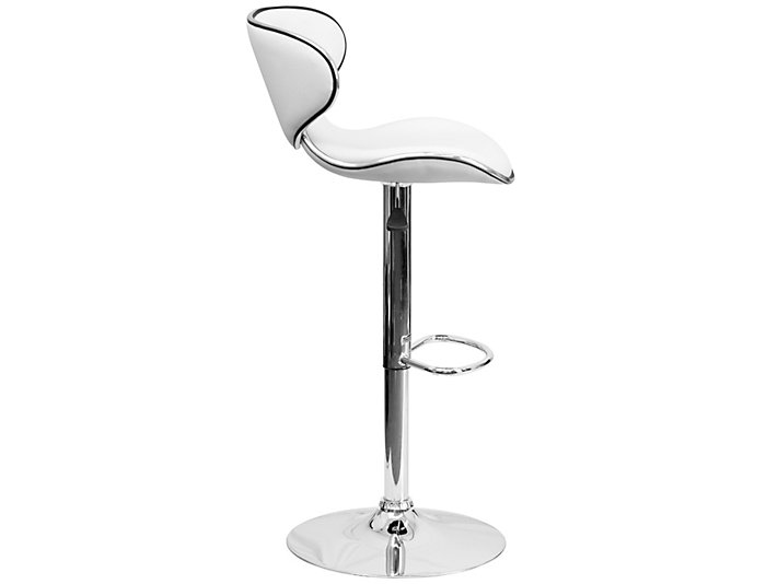 Gas Lift White Barstool Art Van Home