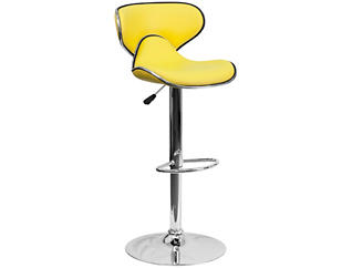 Gas Lift Yellow Barstool, , large