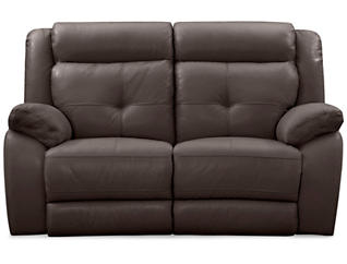 Torino Leather Power Reclining Loveseat, Brown, , large