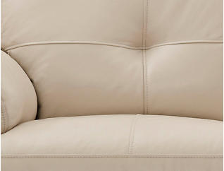 Large Torino Leather Reclining Loveseat Taupe
