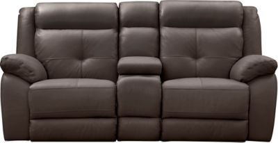 Torino Power Console Loveseat, Chocolate, swatch