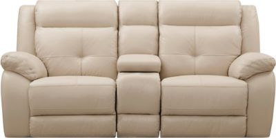 Torino Power Console Loveseat, Taupe, swatch