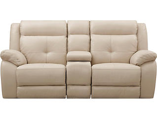 Torino Power Console Loveseat, Taupe, large