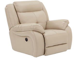 Torino Power Recliner, Taupe, large