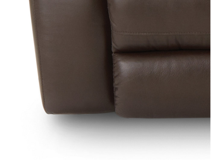 Torino Leather Power Reclining Sofa, Brown, Chocolate, large