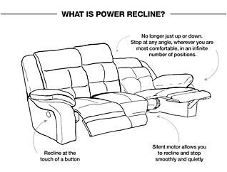 Torino Power Reclining Sofa, Chocolate, large