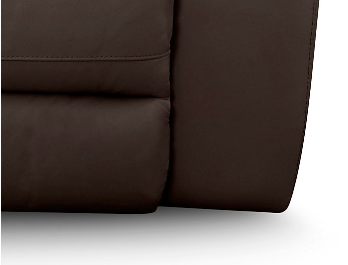 Torino Gliding Console Loveseat, Brown, , large