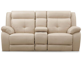 Torino Gliding Console Loveseat, Taupe, , large