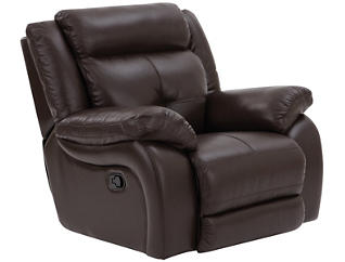 Torino Leather Glider Recliner, Brown, , large