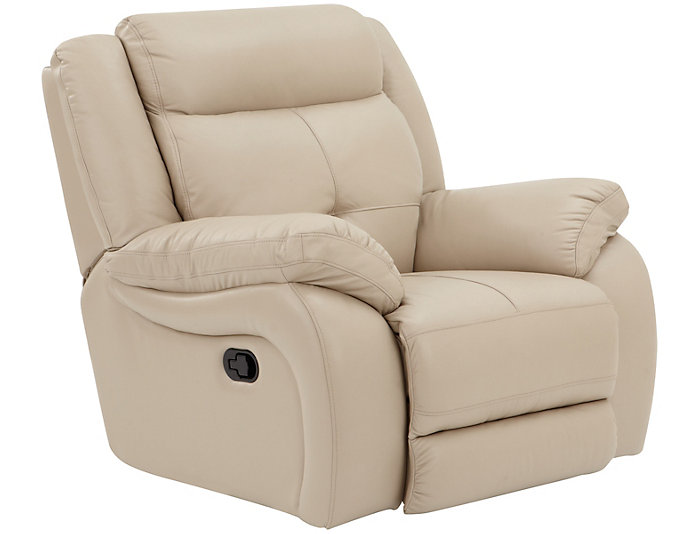Torino Leather Glider Recliner, Taupe, , large