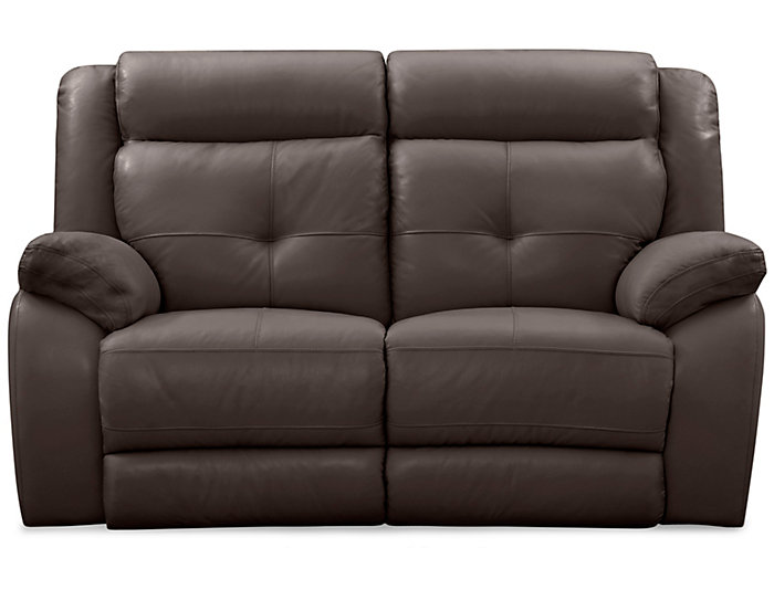 Torino Leather Reclining Loveseat, Brown, Chocolate, large