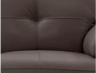 Torino Brown Reclining Leather Loveseat, Chocolate, large