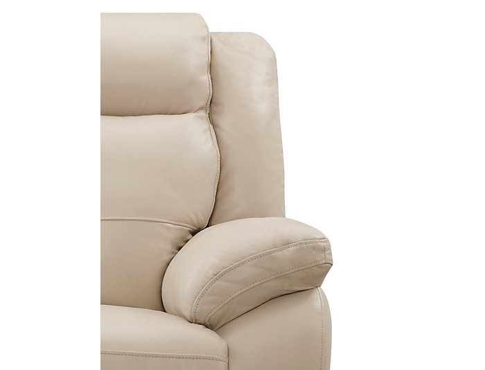 Torino Leather Reclining Loveseat, Taupe, Taupe, large