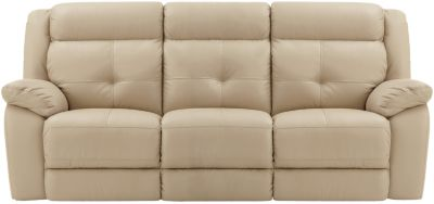 Torino Leather Reclining Sofa Brown Taupe Swatch