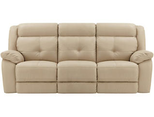 Torino Leather Reclining Sofa, Taupe, , large