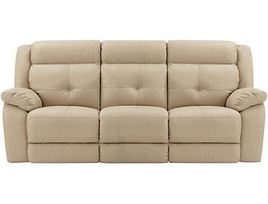 Torino Leather Reclining Sofa, Taupe, , large
