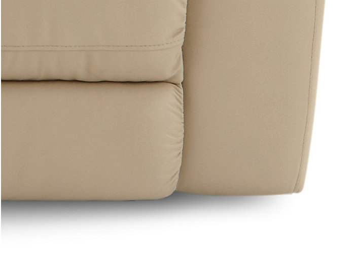 Torino Leather Power Reclining Sofa, Taupe, Taupe, large