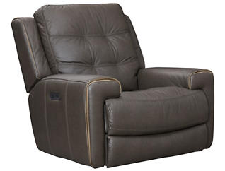 Wicklow Dual Power Glide Recliner, Chocolate, large
