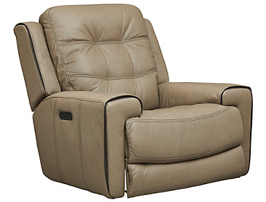 Wicklow Dual Power Glide Recliner, Chocolate, Taupe, large
