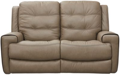 Wicklow Dual Power Reclining Loveseat, Taupe, swatch