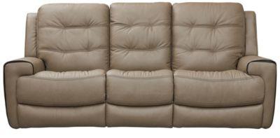 Wicklow Dual Power Reclining Sofa, Chocolate, Taupe, swatch