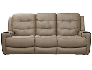 Wicklow Dual Power Reclining Sofa, Taupe, large