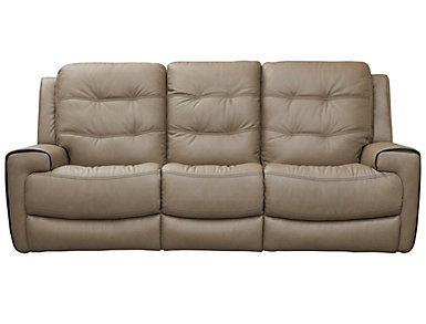 Wicklow Dual Power Reclining Sofa, Chocolate, Taupe, large