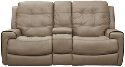 Wicklow Dual Power Reclining Loveseat, Chocolate, Taupe, swatch