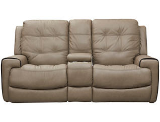 Wicklow Dual Power Console Loveseat, Taupe, , large