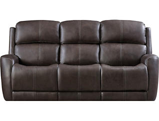 Dual Power Reclining Sofa, Grey, , large
