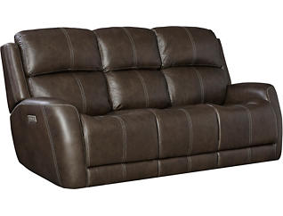 Zelda Dual Power Reclining Leather Sofa, , large