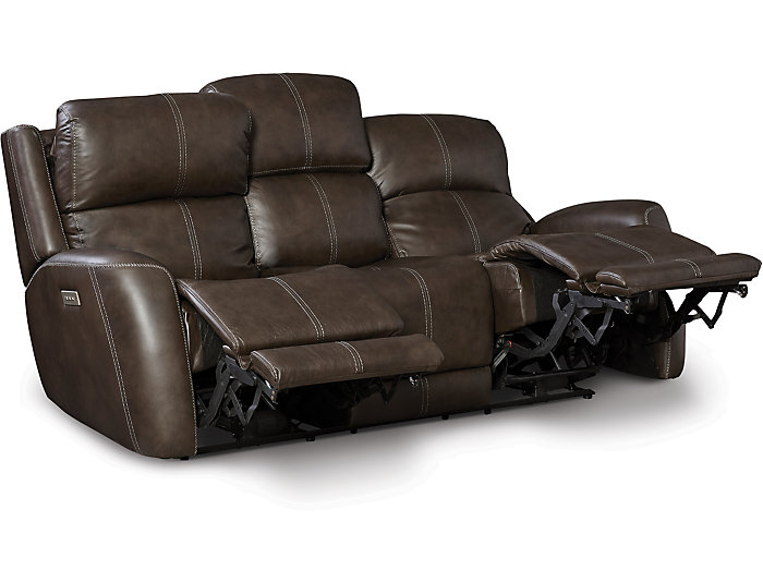 Dual Power Reclining Sofa, Grey, , large