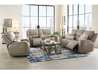 Blade Dual Power Brown Console Loveseat, Brown, large