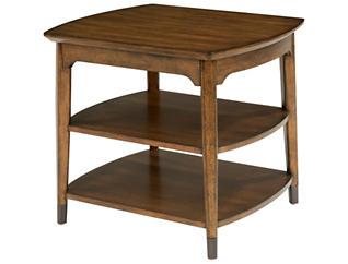 Gemini Rectangular End Table, Brown, , large