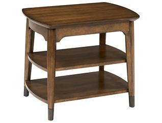 Gemini Rectangular Chairside Table, Brown, , large